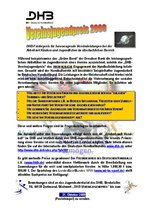 Ausschreibung Vereinsjugendpreis 2009