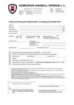 Antrag Spielerlaubnis bzw. Ummeldung Schiedsrichter