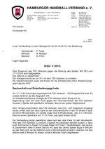 Urteil 04/2013 - mA-Jugend - Einspruch TSV Uetersen