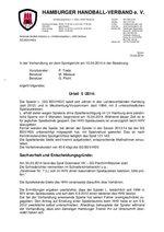 Urteil 05/2014 - SG BSV/HSV