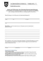 Antrag auf Zulassung zum Schiedsrichteranwärter
