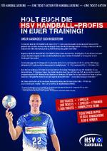 Holt euch die HSV-Profis in euer Training! Eine Ticket-Aktion für Vereine des HHV