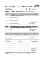 Bestellformular Ballaktion