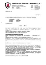 Urteil 07/2014 - 402 014 - HSV/Hamm 02 - Tätlichkeit
