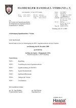 Einladung zur Arbeitstagung Jugendausschuss/Vereine