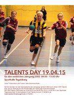 Talents Day 2015 weibliche Jugend Jg. 2002
