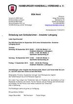 BSA Nord - Schiri-Anwärterlehrgang