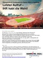 Hamburg 2024 – Ihr habt die Wahl