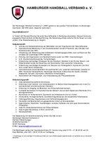 Stellenausschreibung Geschäftsführer/in HHV