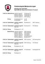 Ablaufplan Pokalendspiele und Meisterehrungen Jugend sowie Ehrung Auswahlmannschaften 2016