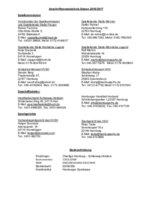 Anschriftenverzeichnis Saison 2016/17