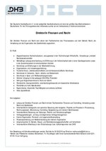 Auschreibung Direktor Finannzen und Recht