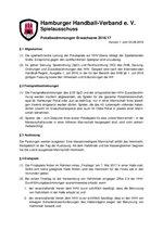 Pokalbestimmungen Erwachsene Saison 2016/17