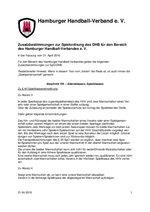 Zusatzbestimmungen des HHV zur DHB-Spielordnung (Stand: 21.04.2016)