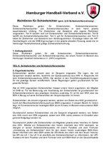 Richtlinien für Schiedsrichter (Stand: 16.09.2016)