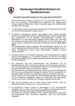 Jugend-Pokal 2016/17 - Durchführungsbestimmungen