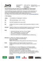 Ausschreibung zum Tag des inklusiven Handballs am 18.03.2017 (inkl. Anmeldebogen)