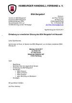 Einladung zur BSA-Sitzung Bergedorf 2017