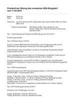 Protokoll BSA Bergedorf 2017