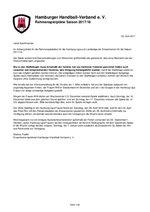 Rahmenspielplan Erwachsene Saison 2017/18