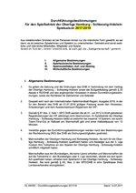 OL HH/SH Durchführungsbestimmungen 2017/18