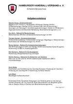 Aufgabenverteilung im Schiedsrichterausschuss