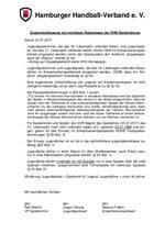 Zusammenfassung von Regelungen der DHB-Spielordnung 2017/18