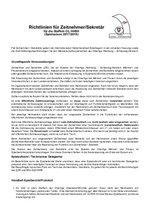 Richtlinien für Zeitnehmer/Sekretäre 2017/2018