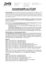 """Anwendungshilfe zu § 55 DHB-Spielordnung (Einschränkung des Spielrechts – früher """"Festspielen"""" – Stand: Oktober 2017)"""