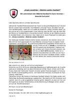 Ausschreibung Projekt Mädchen-Handball