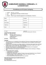 Anmeldeformular B-Lizenz