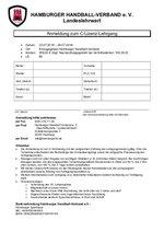 Anmeldeformular C-Lizenz
