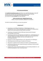 HVN Stellenauschreibung Ref. Mitgliedergewinnung
