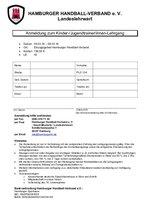 Anmeldeformular Kinder/Jugend-Formular