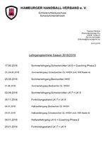 Lehrgangstermine Saison 2018/2019