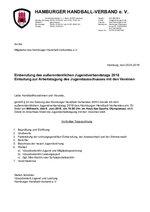 Einladung a.o. Jugendsverbandstag und Arbeitstagung