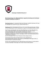 Beschlussvorlage Top 5 - HHV-Jugendordnung