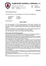 Urteil 04/2018 - TuS Aumühle/Wohltorf - Fälschung eines Spielberichts