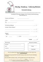 Kostenabrechnung für Oberligaveranstaltungen (Sitzungen, Lehrgänge usw.)