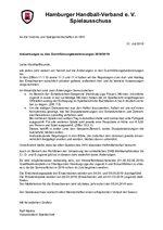 Anschreiben HHV-Durchführungsbestimmungen 2018/19