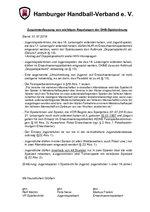 Zusammenfassung von Regelungen der DHB-Spielordnung 2018/19