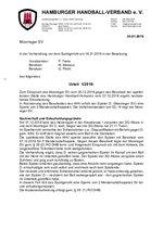 Urteil 01/2019 - Einspruch Moorreger SV
