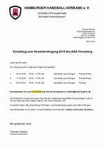 BSA Pinneberg - Lehrgang Mai 2019