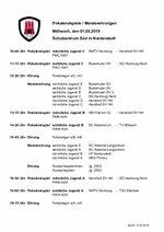 Ablaufplan Pokalendspiele und Meisterehrungen Jugend 2019