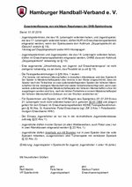 Zusammenfassung von Regelungen der DHB-Spielordnung 2019/20