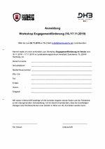 Anmeldung zum Workshop