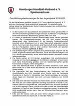 Jugend-Pokal 2019/20 - Durchführungsbestimmungen