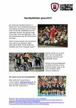 Ausschreibung Handballfotos