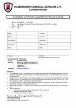 Anmeldeformular Kinder/Jugend-Formular 2020