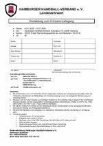 Anmeldeformular C-Lizenz 2020